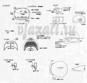 схема вязание кепки - 2