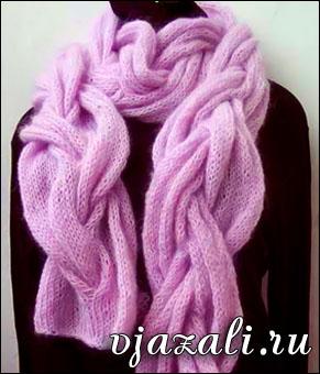 шарф из мохера