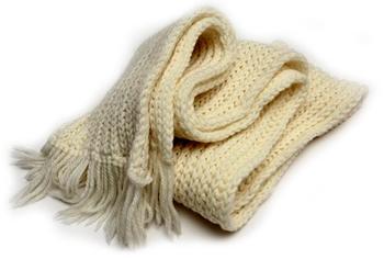 вязаный шарф обыкновенный, классический