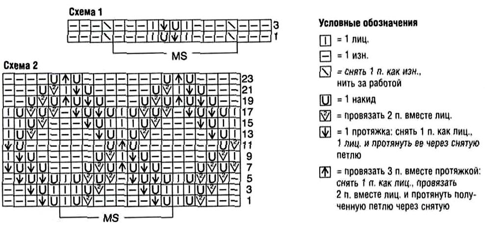 Галочка на схеме вязания 29