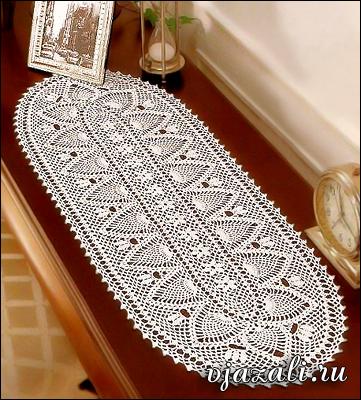 схемы вязания овальной салфетки