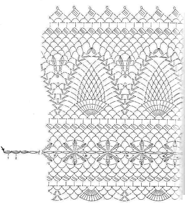 12 салфетки крючком овальные