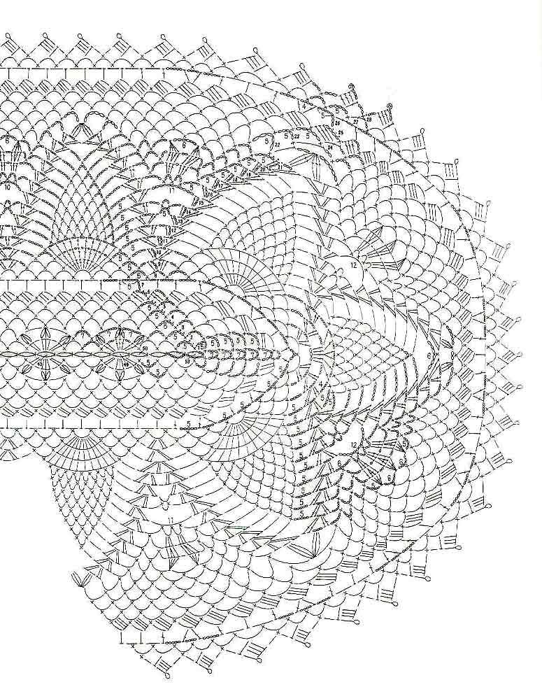 Схема 1 вязания овальной