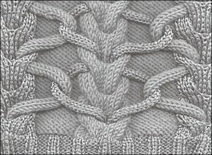 Вязание на спицах - Жгут, шишечка, Вязание на спицах - Жгут, шишечка.