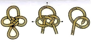 схема завязывания шнура