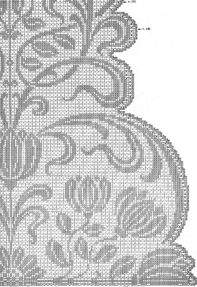 Филейное вязание для занавесок, салфетки и как идеи рисунка. свой цитатник или сообщество! http...