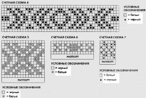 схема норвежских рисунков для вязания