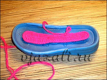 мастер класс вязание тапок