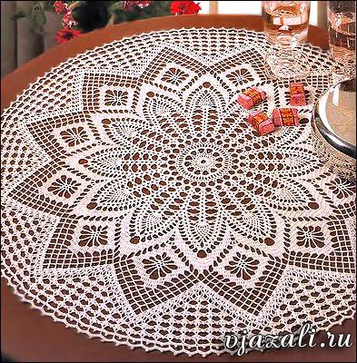 Элегантные декоративные скатерти вязание крючком.