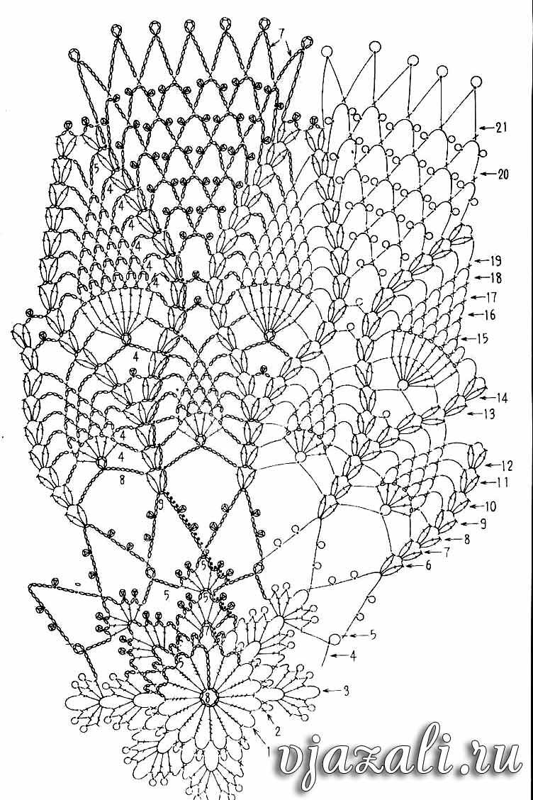 Простейшие схемы вязания салфеток 40