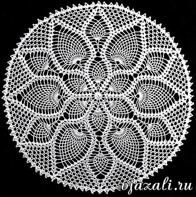 схемы вязания спицами салфеток