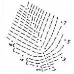 схема вязания листка