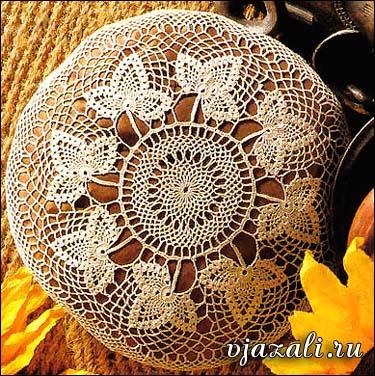 вязание крючком скатерть круглая схема