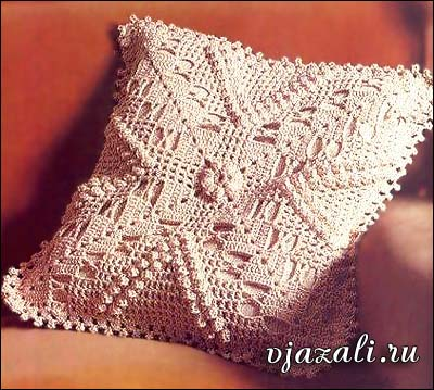 схема вязания чехла на подушку
