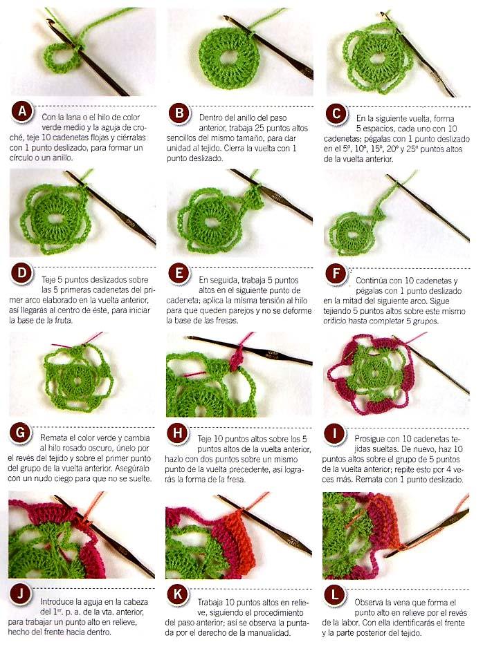 Вязание крючком для начинающих ягодка схема