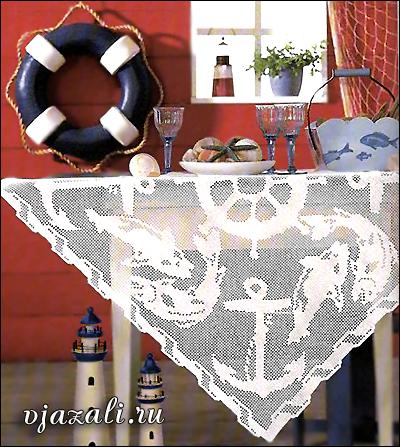скатерть в морском стиле