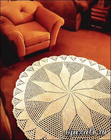 Вязание спицами круглых ковриков лепестками 79