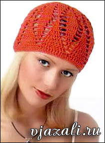 летняя шапочка вязаная крючком вязание