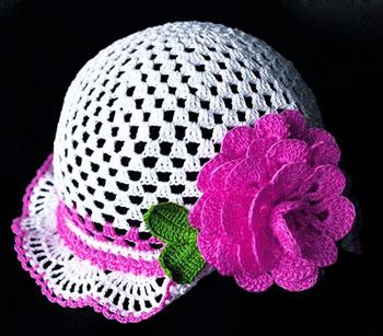 Панамки вязаной крючком для девочки